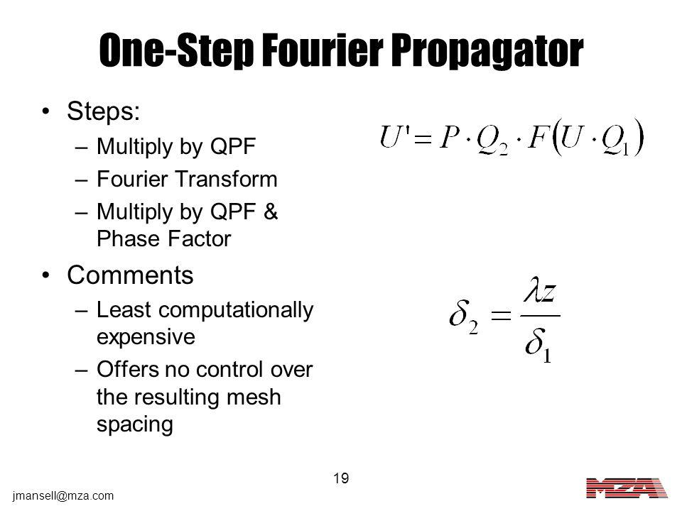 One-Step Fourier Propagator