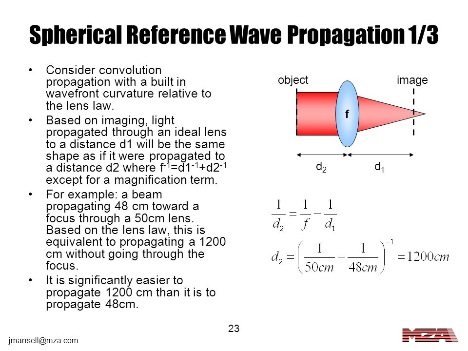 Spherical Reference Wave Propagation 1/3