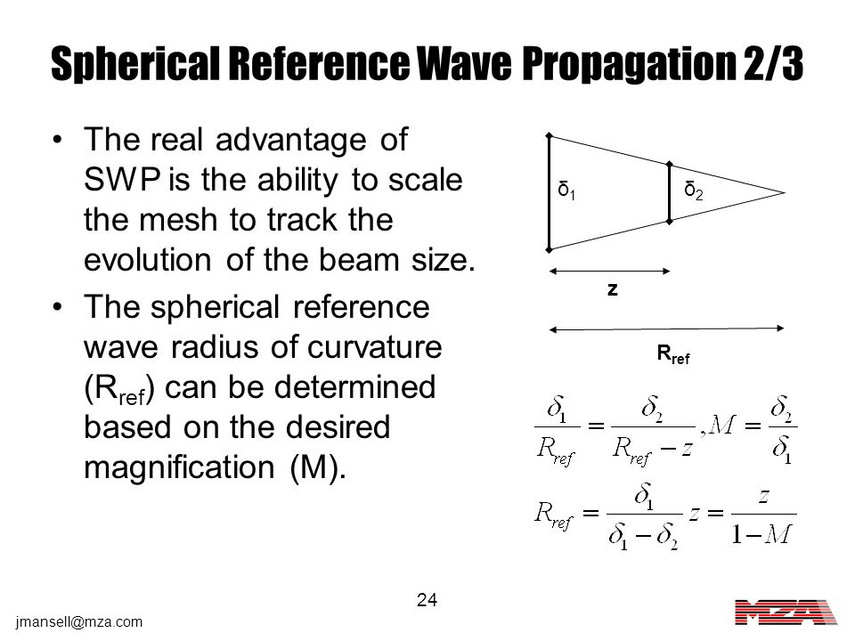 Spherical Reference Wave Propagation 2/3