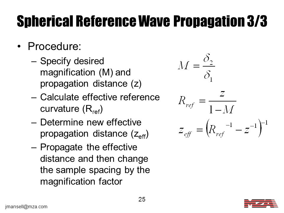 Spherical Reference Wave Propagation 3/3