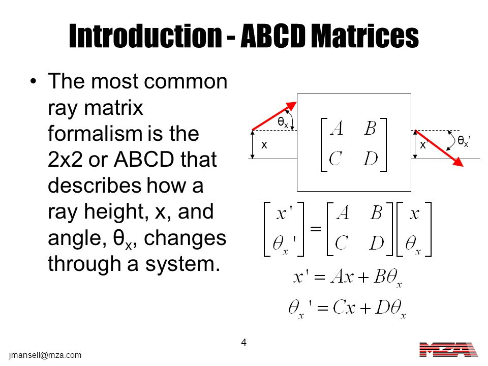 Introduction - ABCD Matrices