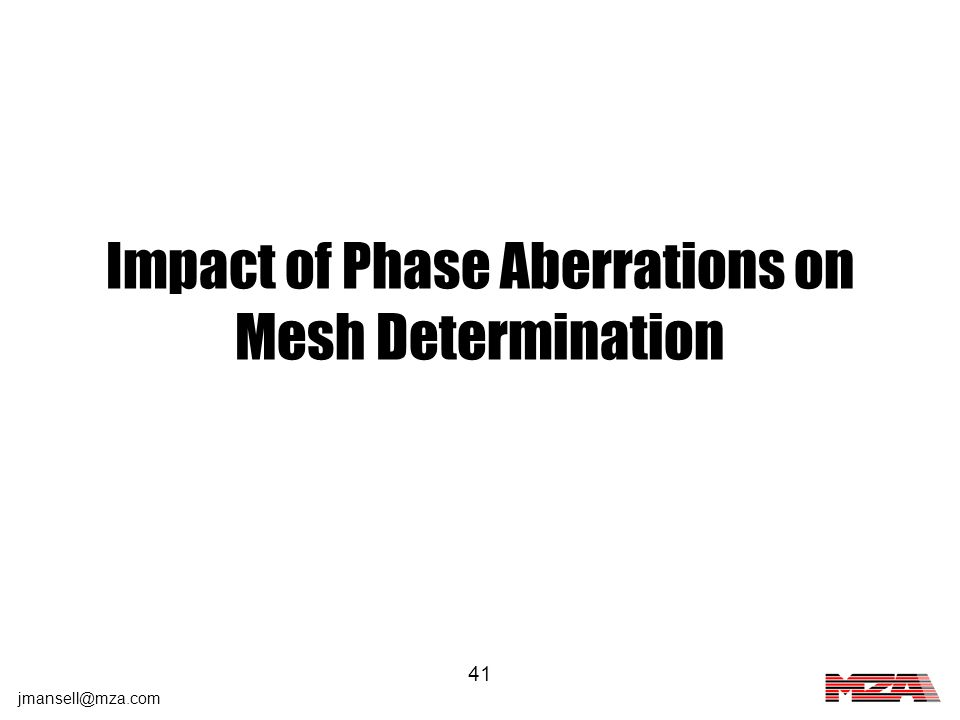 Impact of Phase Aberrations on Mesh Determination