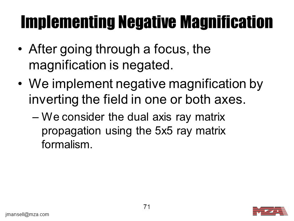 Implementing Negative Magnification