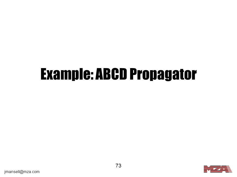 Example: ABCD Propagator