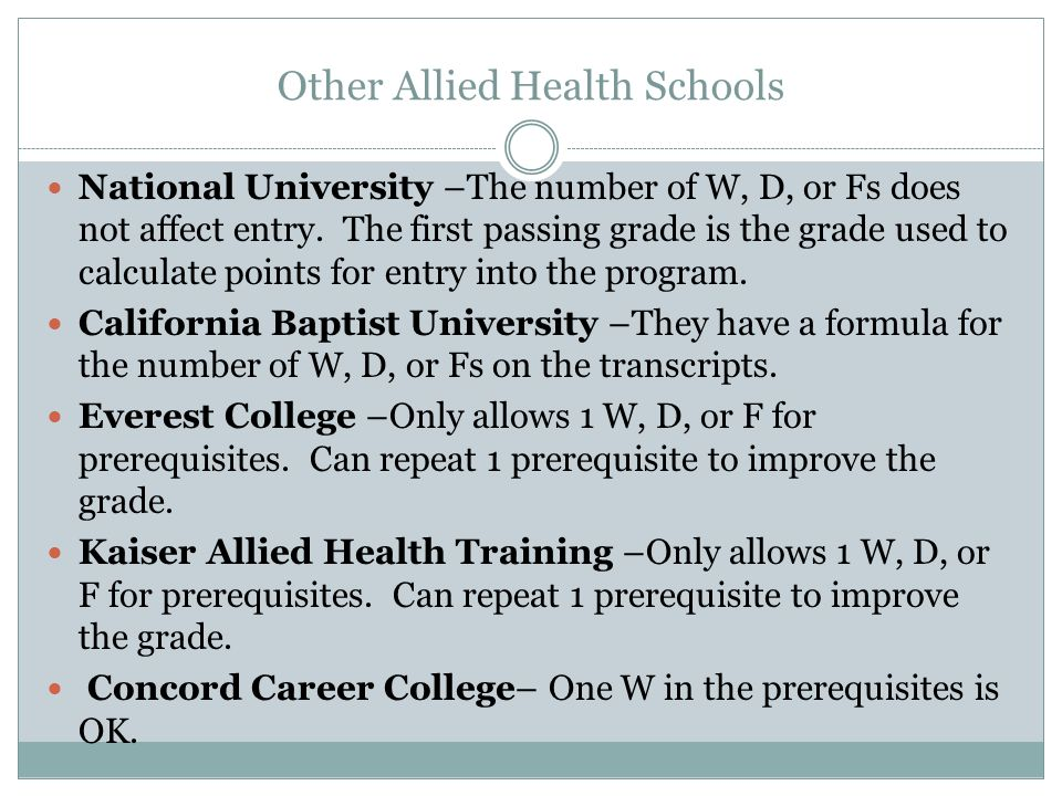 Other Allied Health Schools