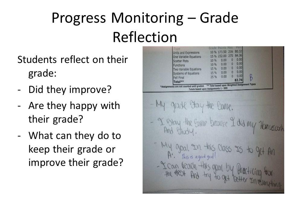 Progress Monitoring – Grade Reflection