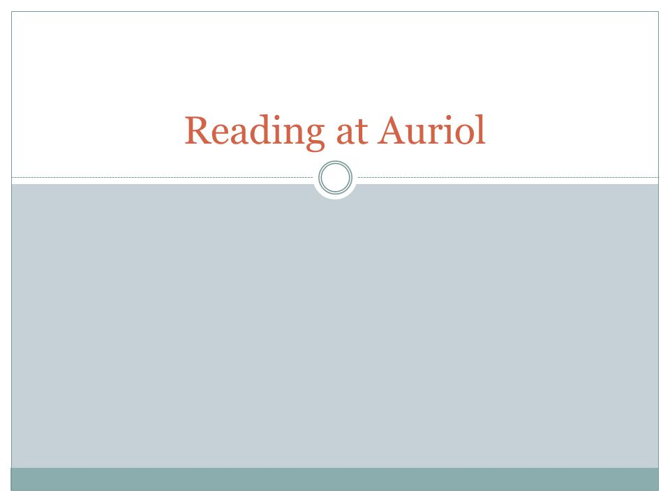 Reading at Auriol