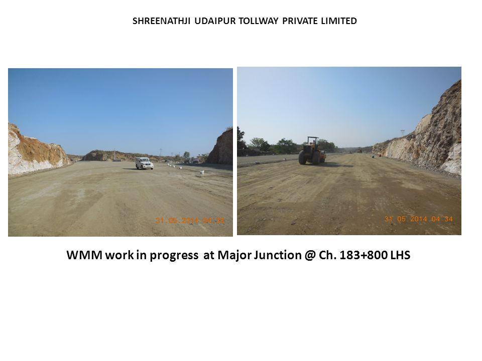 WMM work in progress at Major Junction @ Ch. 183+800 LHS
