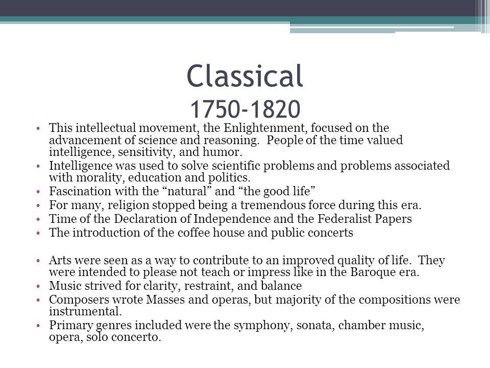Classical 1750-1820