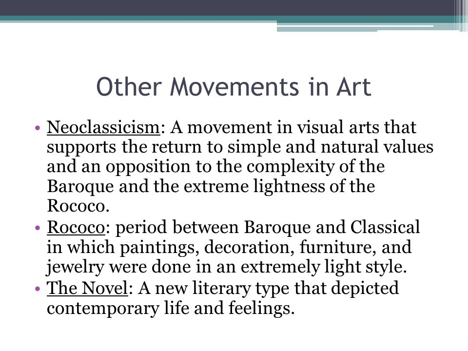 Other Movements in Art