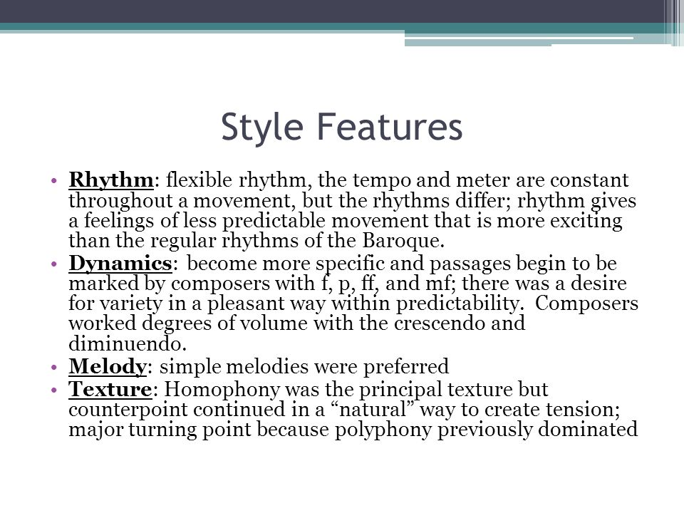 Style Features