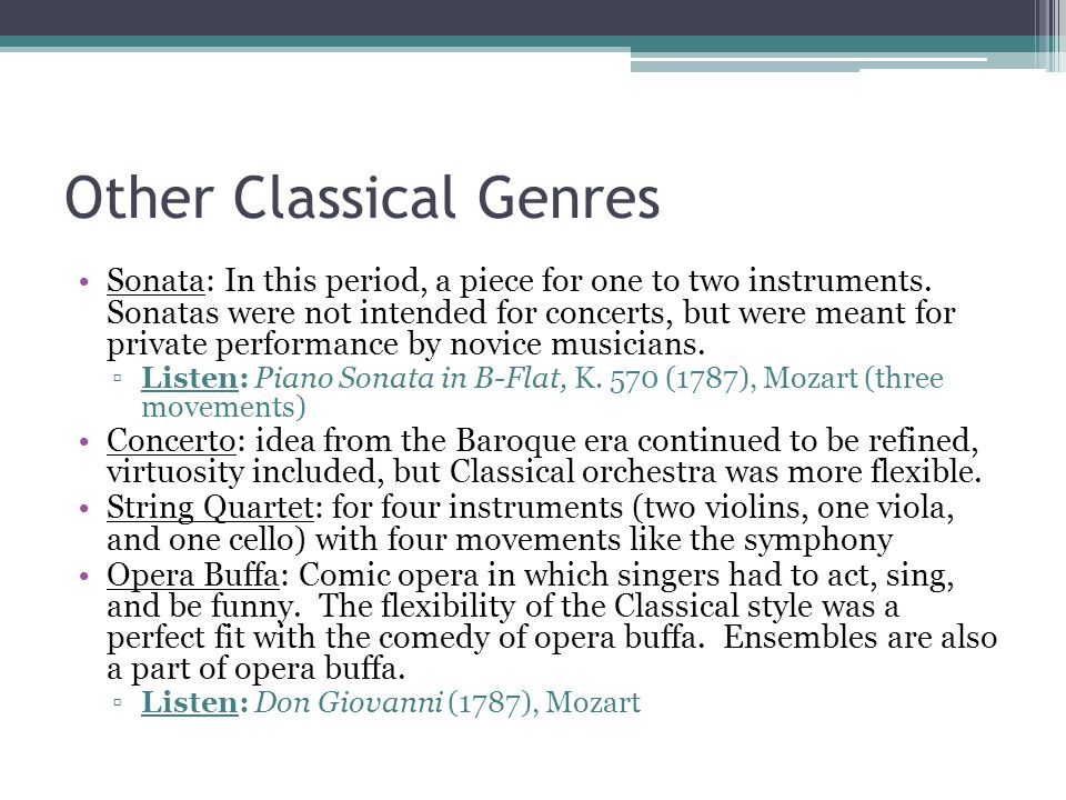 Other Classical Genres
