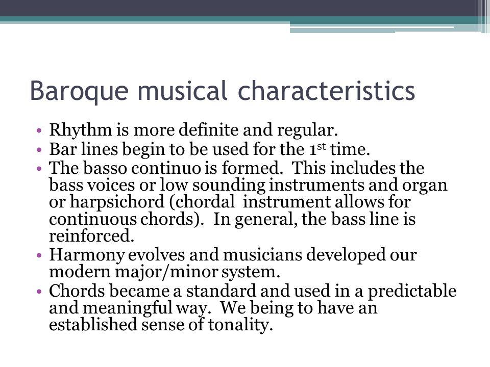 Baroque musical characteristics