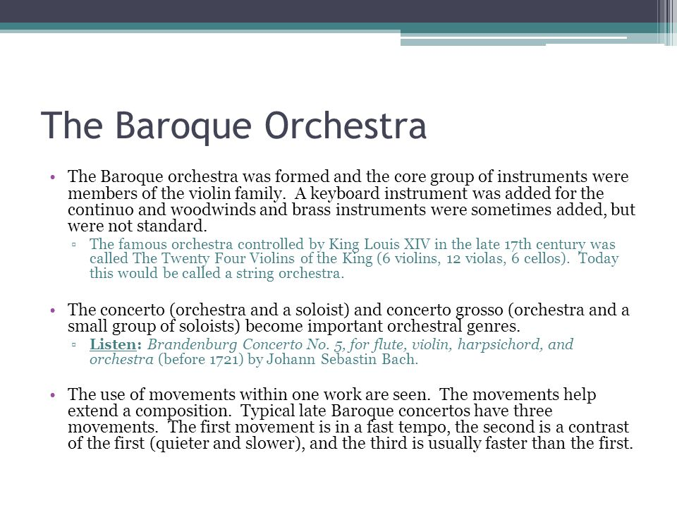 The Baroque Orchestra