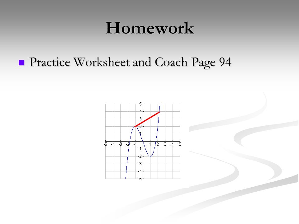 Homework Practice Worksheet and Coach Page 94