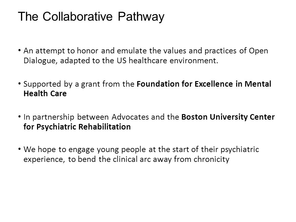 The Collaborative Pathway