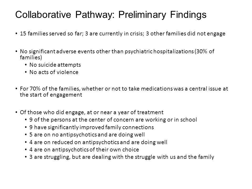 Collaborative Pathway: Preliminary Findings