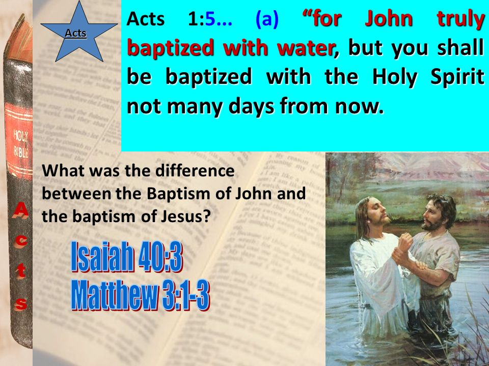Acts Isaiah 40:3 Matthew 3:1-3