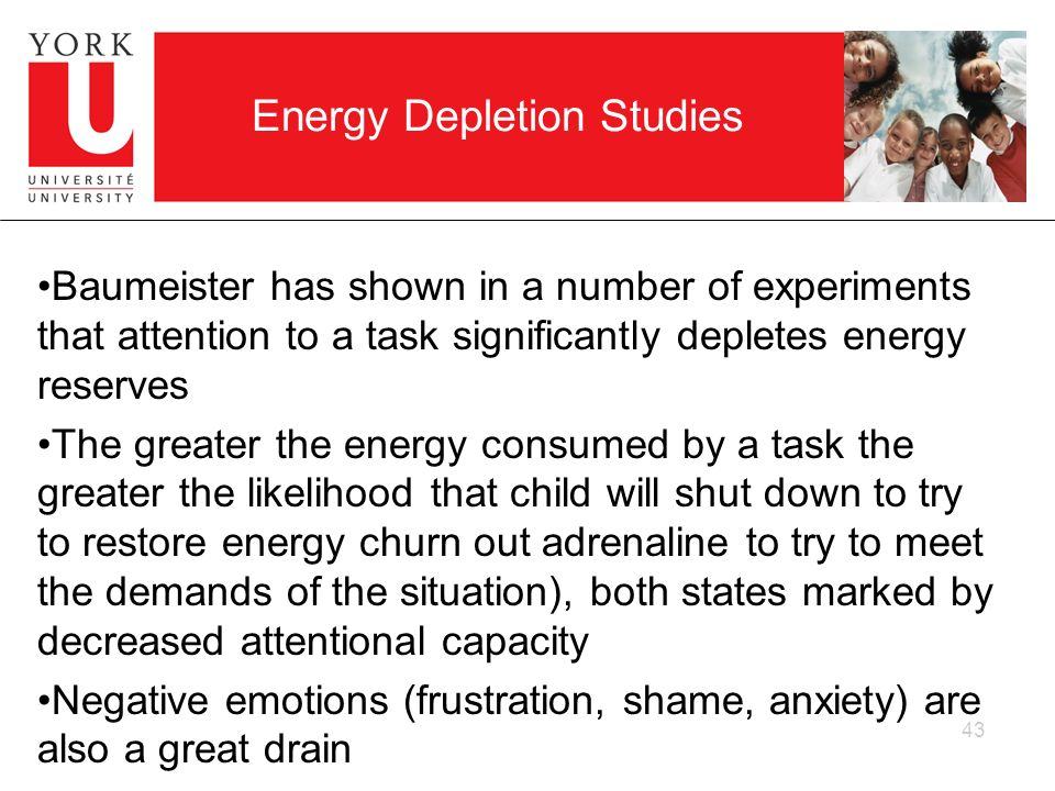 Energy Depletion Studies