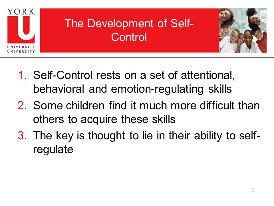 The Development of Self-Control