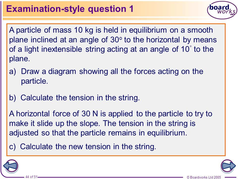 Examination-style question 1