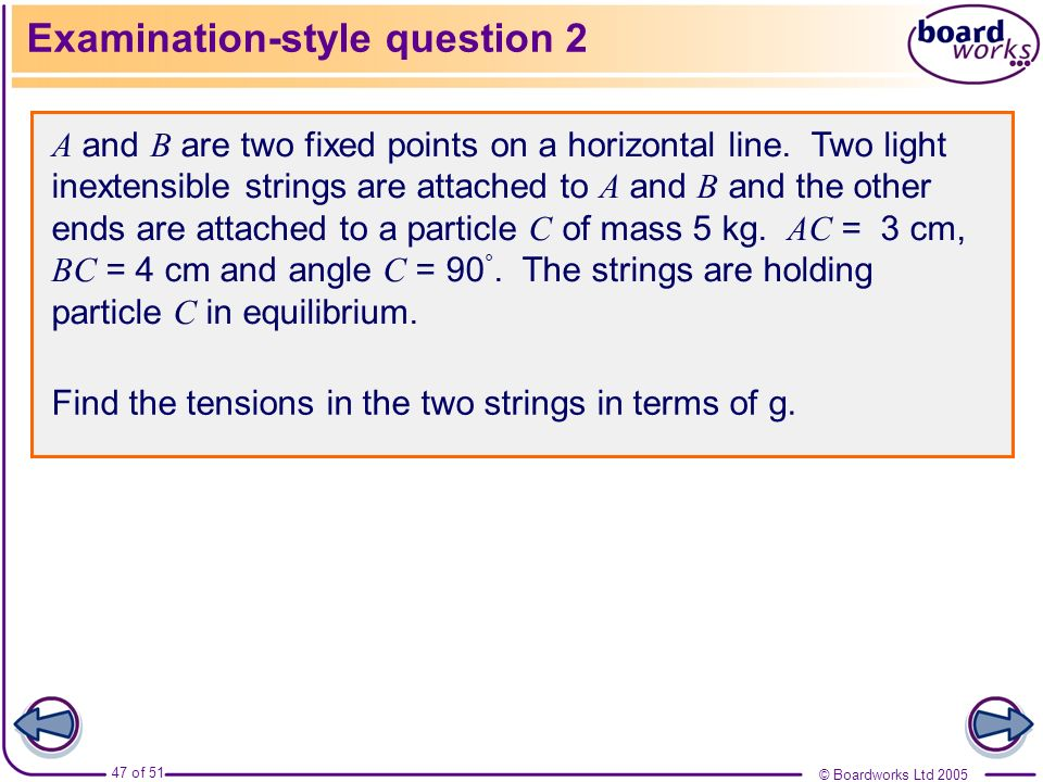 Examination-style question 2