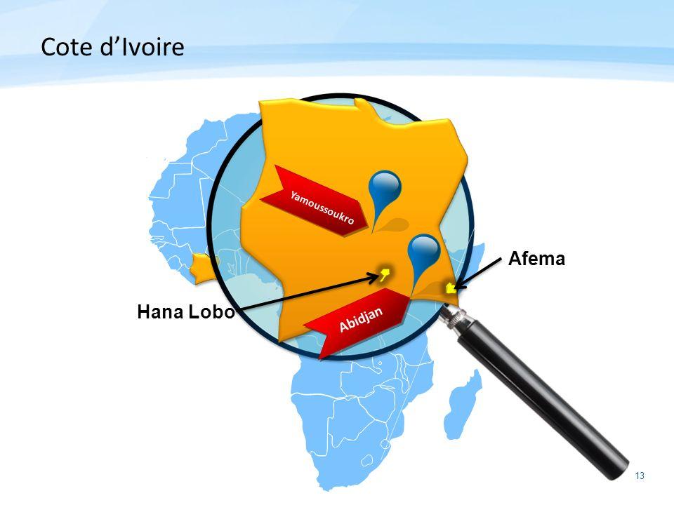 Cote d'Ivoire Afema Hana Lobo Yamoussoukro Abidjan