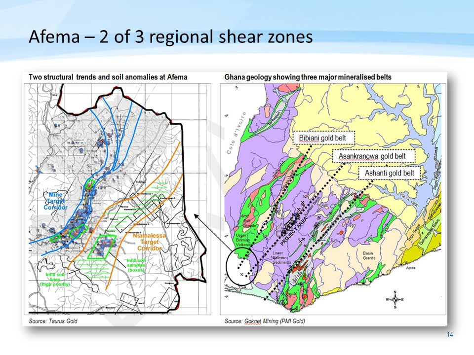 Afema – 2 of 3 regional shear zones