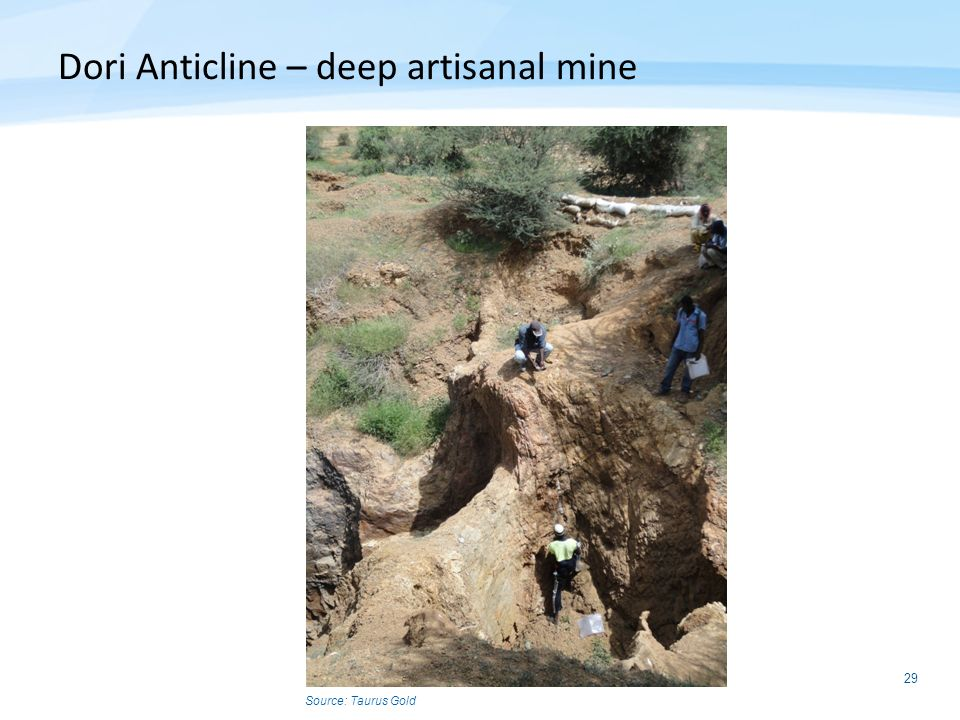 Dori Anticline – deep artisanal mine