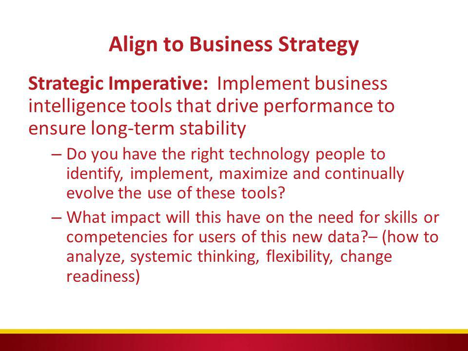 Align to Business Strategy