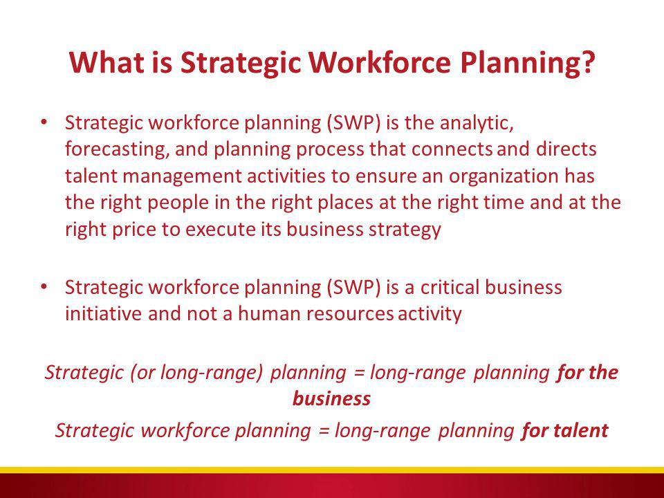 What is Strategic Workforce Planning