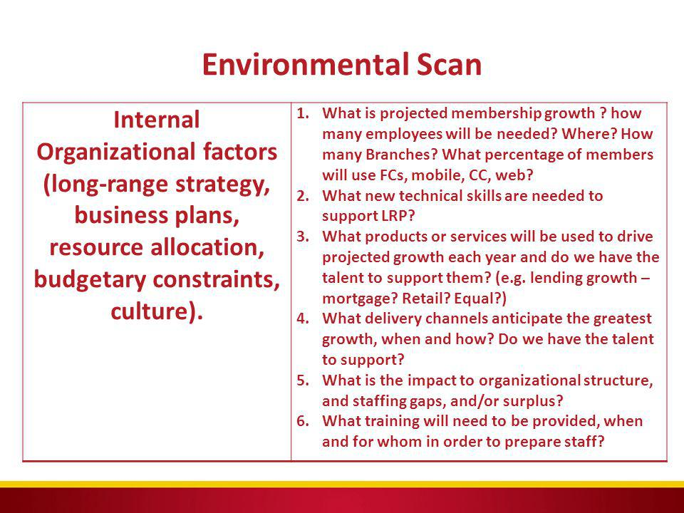 Environmental Scan Internal