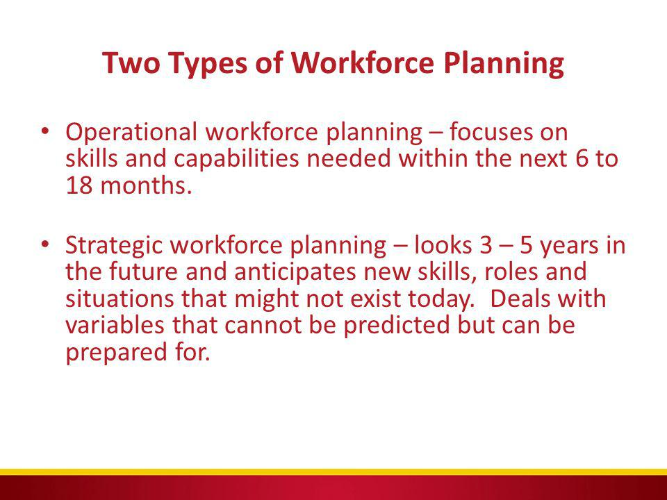 Two Types of Workforce Planning