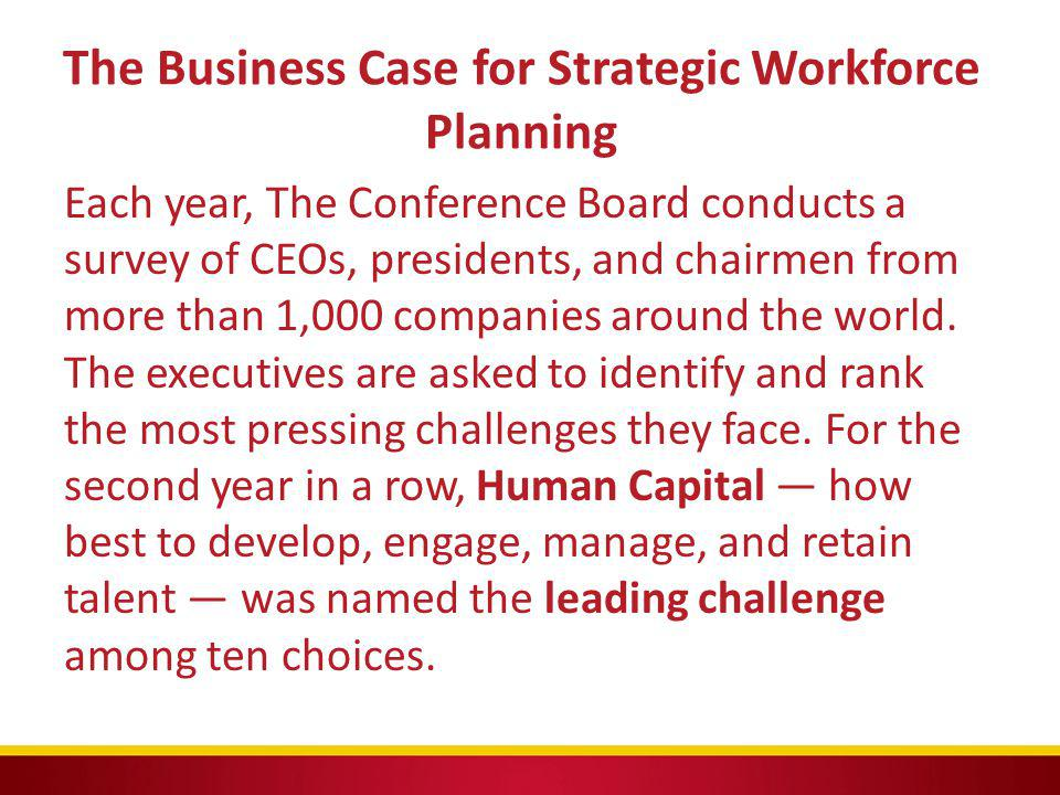 The Business Case for Strategic Workforce Planning
