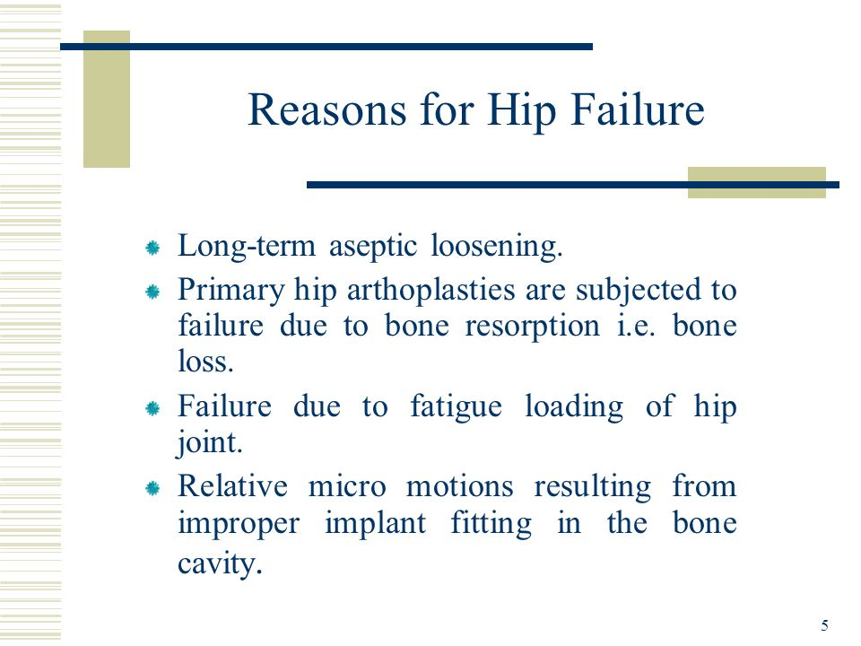 Reasons for Hip Failure