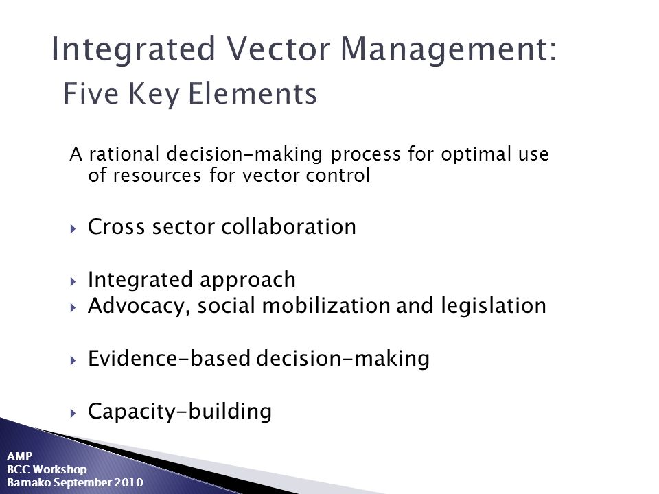 Integrated Vector Management: Five Key Elements