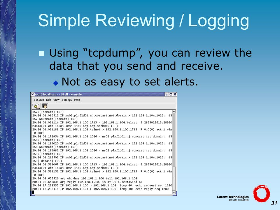 Simple Reviewing / Logging