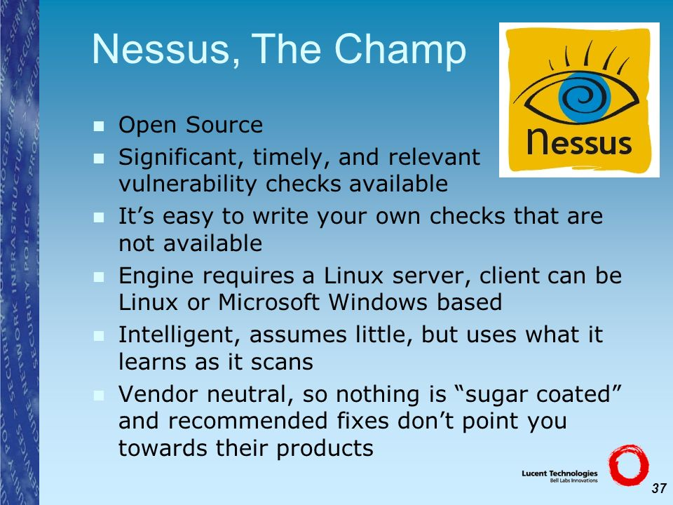 Nessus, The Champ Open Source