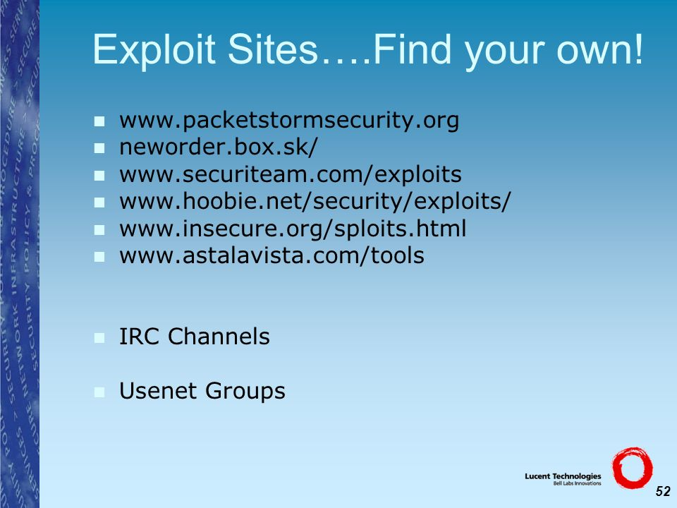 Exploit Sites….Find your own!