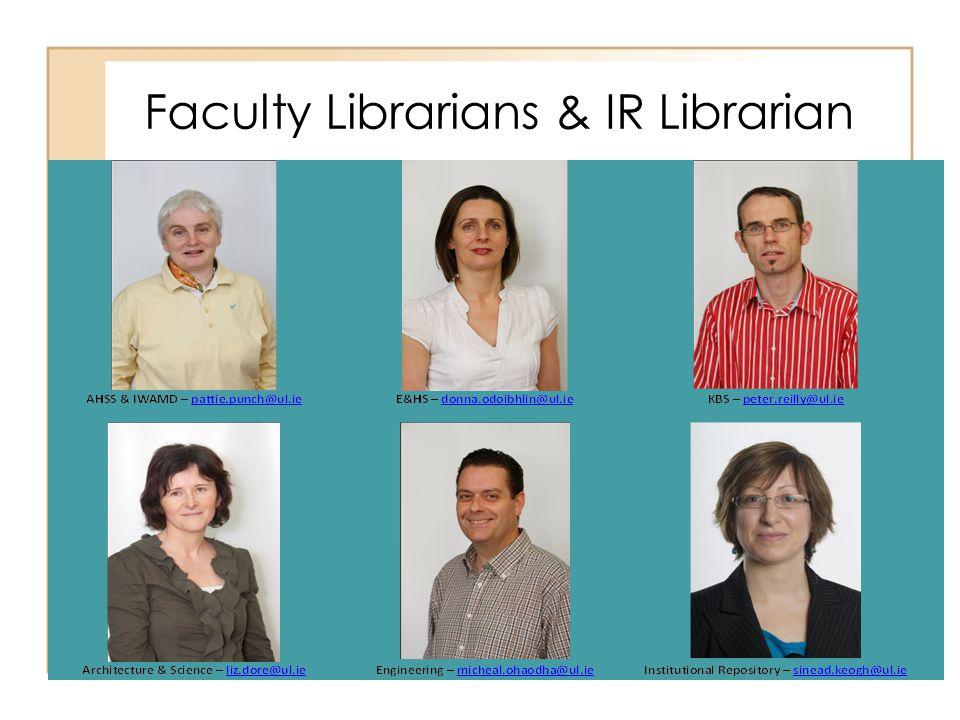 Faculty Librarians & IR Librarian