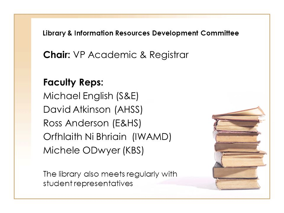 Library & Information Resources Development Committee