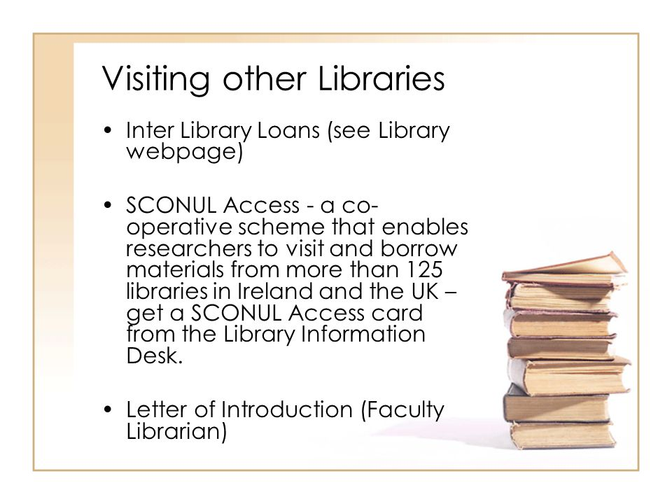 Visiting other Libraries
