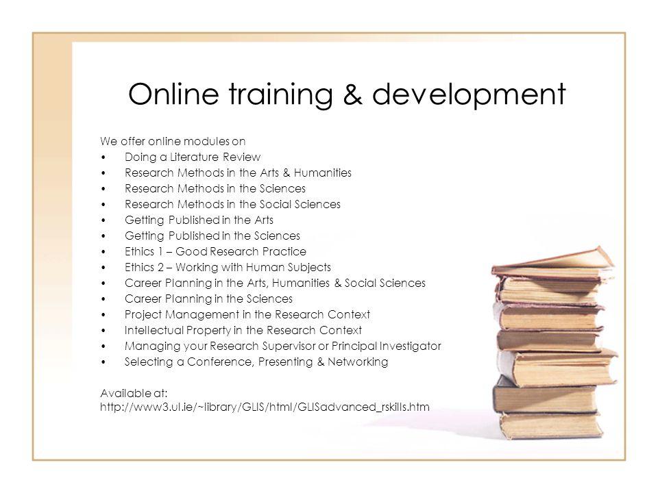 Online training & development