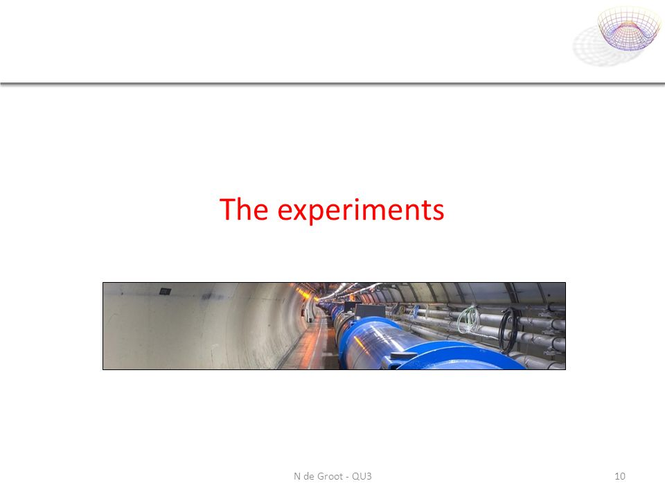 The experiments N de Groot - QU3