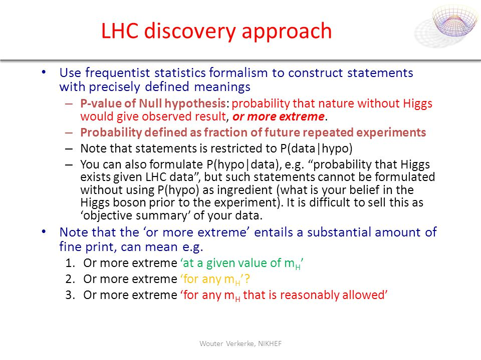 LHC discovery approach