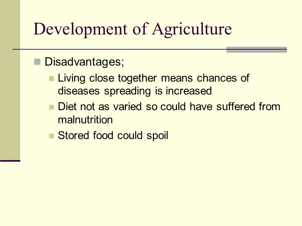 Development of Agriculture