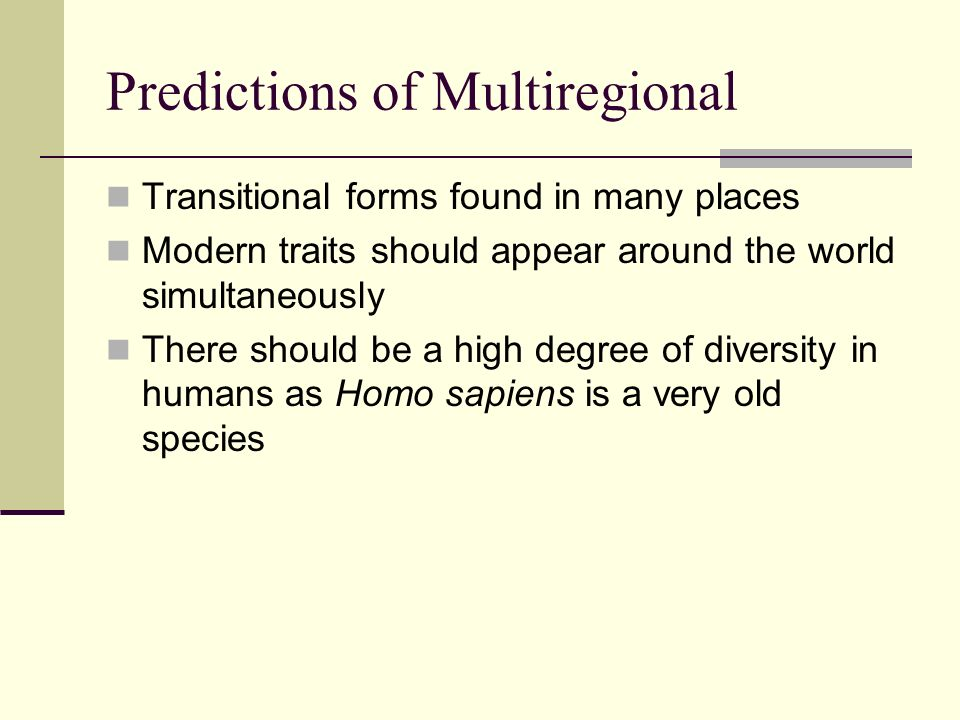 Predictions of Multiregional