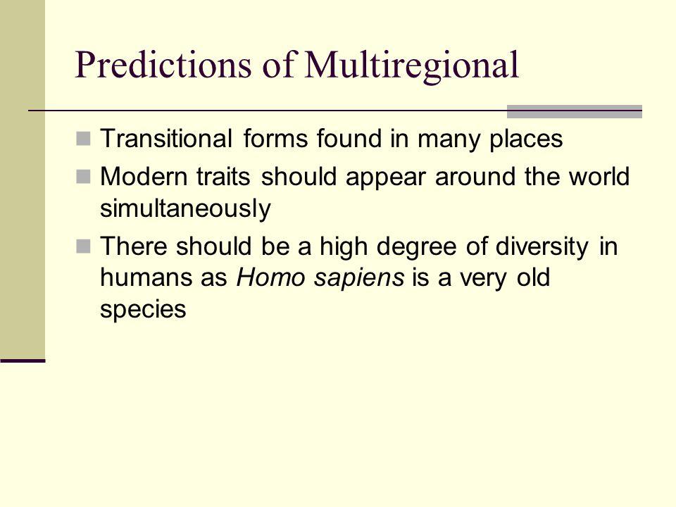 Predictions of Multiregional