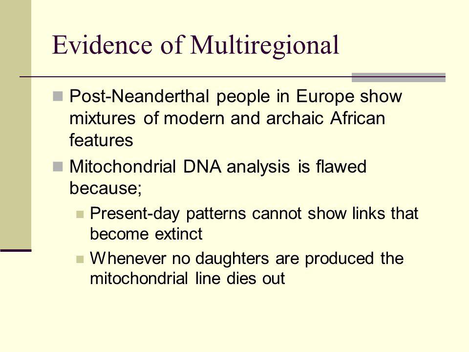 Evidence of Multiregional