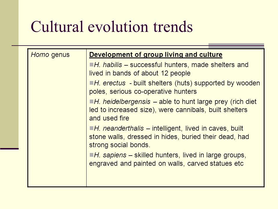 Cultural evolution trends
